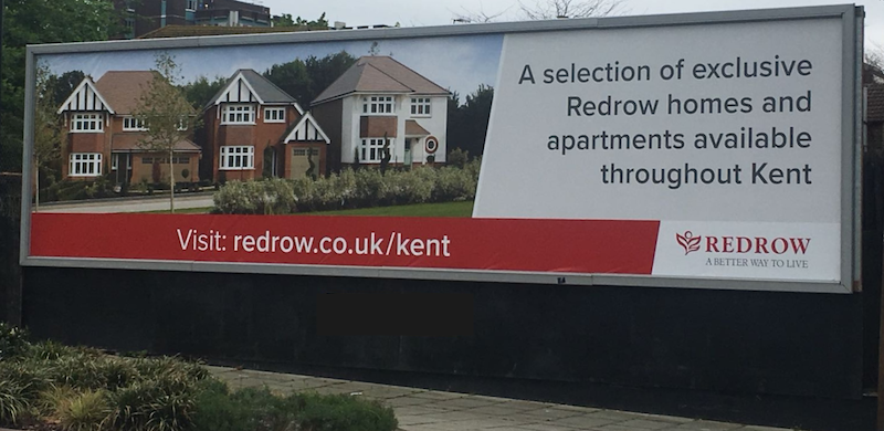 Busy Road Advertising Billboard for RedRow Housing Development