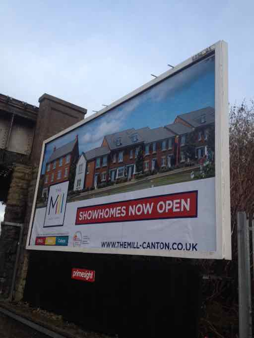 billboard advert 48 sheet poster new homes