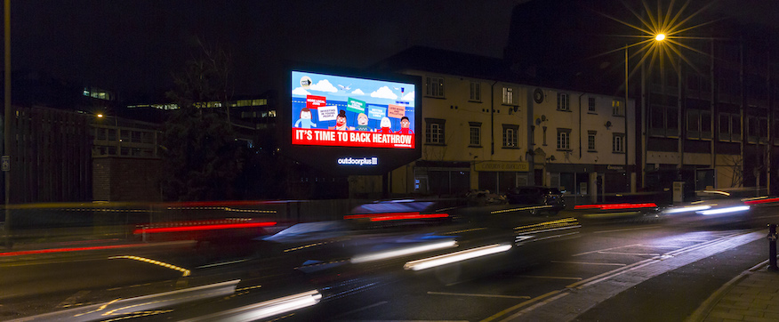 digital billboard back heathrow campaign advert