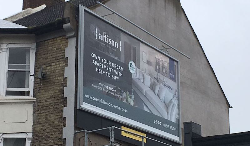 hove crest homes billboard campaign