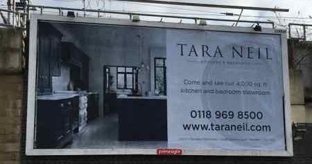 tara neil billboard advert in reading