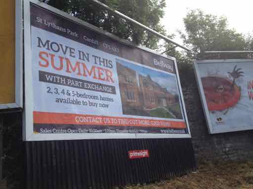 Bellway Homes Billboard Poster Campaign