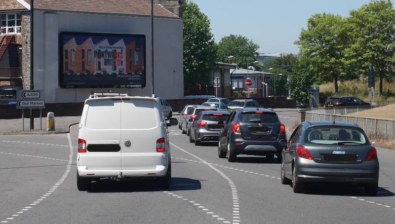 crest homes digital billboard poster advertising